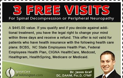 Wilmington Treatment Center for Neck & Back Pain Coupon.